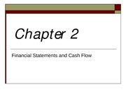 Chap2 - Financial Statement and Cash Flows
