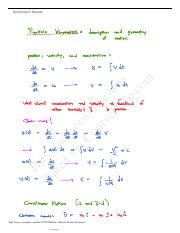 Exam 1 Review - Particle Dynamics