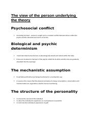 The psychoanalytical theory of Sigmund Freud.docx