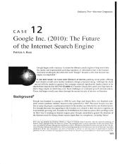 Google inc 2010 the future of the internet search engine
