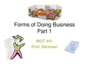 J11 MGT 401 - Forms of Doing Business Pt1