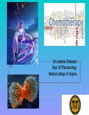 Biology of Drugs Cancer Chemotherapy Chalasani