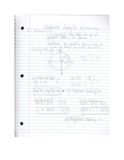 Analytic Geometry Notes