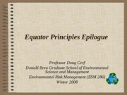 Equator Principles Epilogue