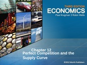 Perfect Competition and the Supply Curve