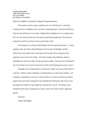 Cover letter rough draft
