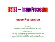 lecture13_ImageRestoration