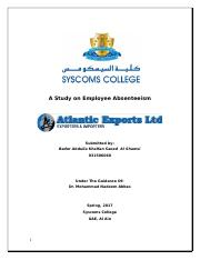 study_on_employees_absenteeism bader.doc