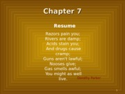 Chapter 7: Resume