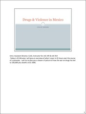 Mexico Drugs Overview Presentation