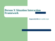 8.29 Person Situation Framework