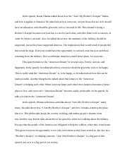 I Am My Brother's Keeper Analysis.docx