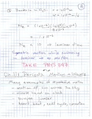 Physics 12 periodic Motion and Waves Class Notes