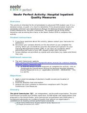 Neehr Perfect EHR Activity-Hospital Inpatient Quality Measures v6 _Week 2_.docx