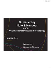 MSCI311 Bureaucracy