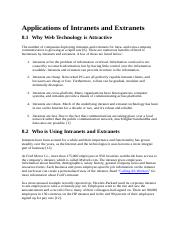 Applications of Intranets and Extranets.docx