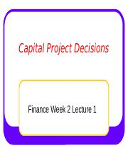 4  Capital Project Decisions Student 1