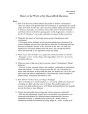 History of the World in Six Glasses Book Questions
