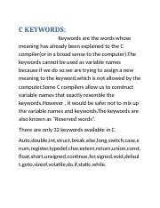 C KEYWORDS.docx