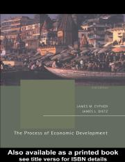 Cypher J.M., Dietz J.L. The process of economic development