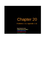 Excel Solutions - Chapter 20