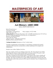 Spring 2012ARH10001930MASTERPIECES OF ART