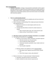 COMM 4322 chapter 13 notes