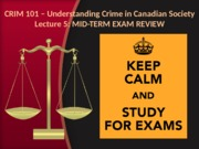 Lecture 5 (EXAM REVIEW)