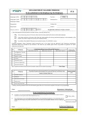 Employee Declaration Form