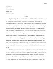 Eng 1C - Academic Biography Essay