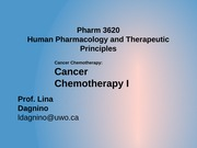 2 - Cancer Chemotherapy 1