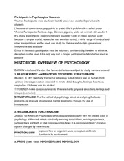 Participants in Psychological Research