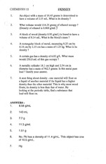 Printables Dilutions Worksheet chem 11 chemistry seaquam secondary course hero 2 pages density and dilution worksheet