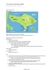 6 - The Three Worlds of Bali