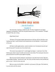 Narrative essay broken bones thesis tourism pdf