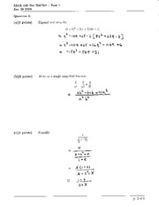 Math 145 Test 1 Solutions