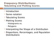 Ch 2.  Frequency Distributions