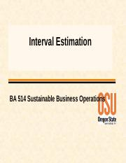 Interval Estimation W16.ppt