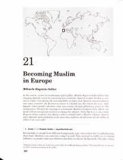 Becoming Muslim in Europe