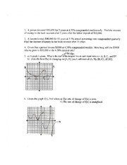 Missing Graphs from CH 2 Review Sheet