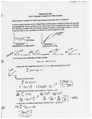 Lab 4 Improper Integrals and Data Analysis