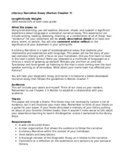 literacy narrative essay assignment Read this essay on literacy narrative come browse our large digital warehouse of free sample essays get the knowledge you need in order to pass your classes and more.