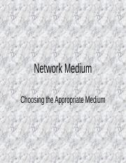 Network Medium1.ppt
