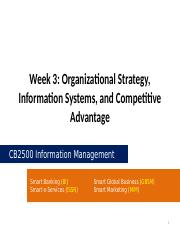 CB2500 - Week03 - Organizational Stratgegy, Information Systems, and Competitive Advantage.pptx