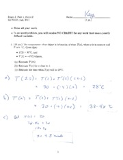 Exam 3 Day 1 Form B Solution