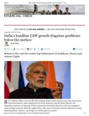 4 - India's headline GDP growth disguises problems below the surface
