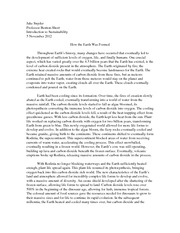 Earth Formation Essay