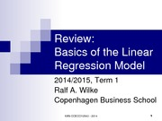 review linear regression