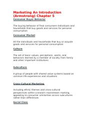 Marketing An Introduction ch 5.docx