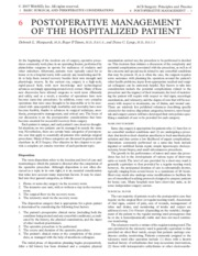06 Postoperative Management of the Hospitalized Patient